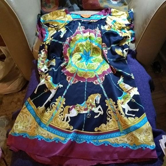 Voom by Joy Han Dresses & Skirts - Voom Carousel silk dress